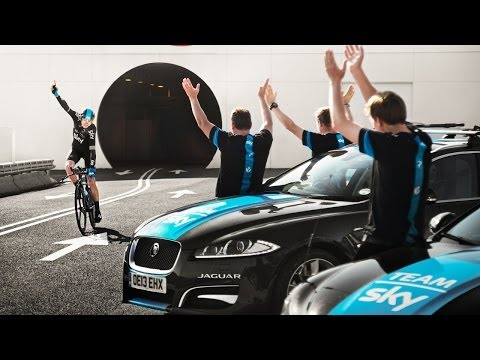 Chris Froome, Team Sky and Jaguar: 'Cycling Under The Sea'