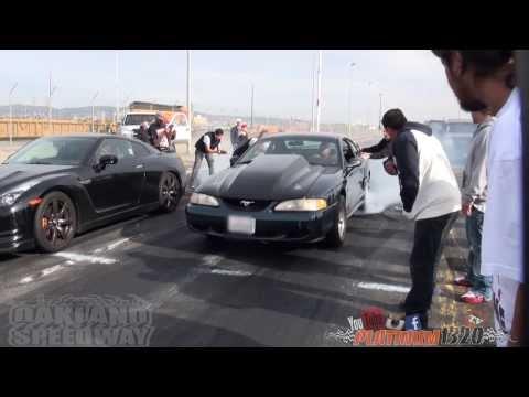 554HP GT-R vs 480HP MUSTANG