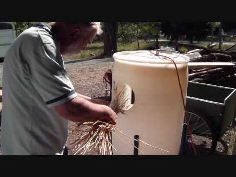 Homemade Grain Thresher Youtube