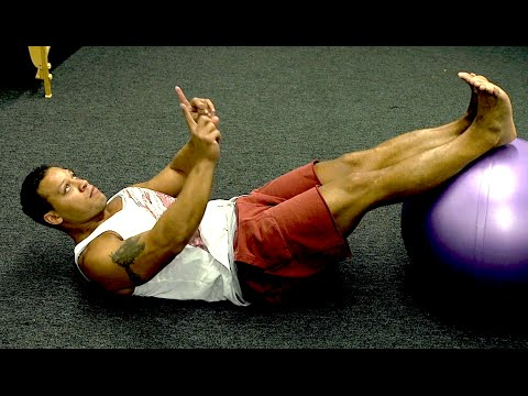 Hip Extension / Knee Flexion Exercise (for hamstrings, glutes and abs)