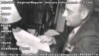 Analysis of Propagana   3 9 1942   Part 1 of 2   Siegfried Waggener
