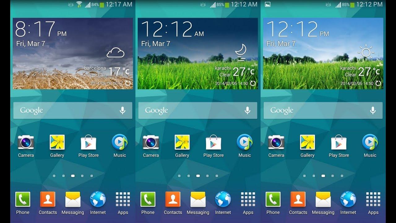 Weather Widget Samsung Galaxy S5