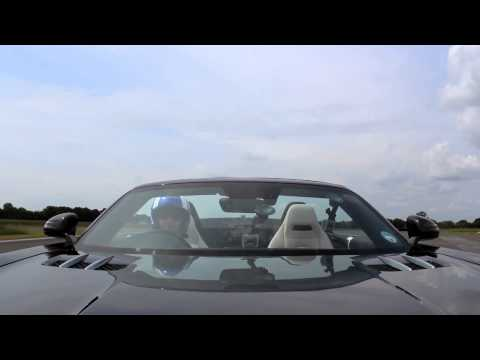 David Coulthard catches 178mph golf ball in Mercedes-Benz SLS