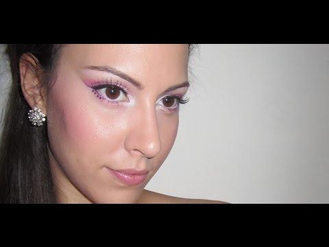 Rózsaszín menyasszonyi/koszorúslány smink