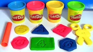 Play Doh Chalkboard Back To School Playset Learn Shapes & Numbers 123 with PlayDough 2015