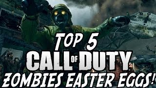 """Top 5 """"EASTER EGGS"""" In Call Of Duty Zombies (Easter Egg"""