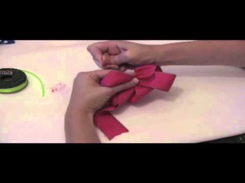how to make a bow with ribbon youtube