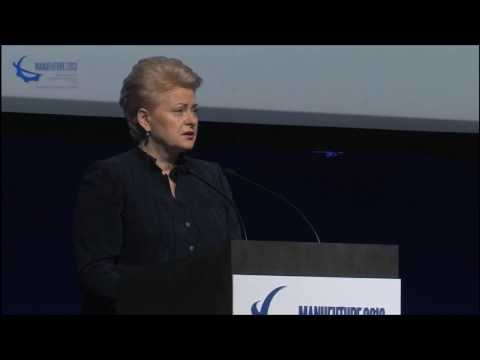 Dalia Grybauskaitė, President of the Republic of Lithuania - MANUFUTURE 2013 Conference Opening