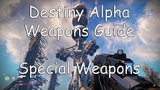 Destiny Weapon Guide Special Weapons