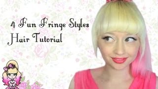 4 Fun Fringe Hairstyle Tutorials Violet LeBeaux
