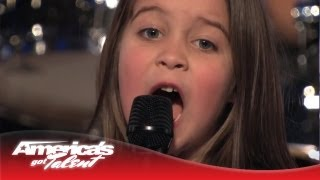 "6-Year-Old Aaralyn Scream Her Original Song, ""Zombie Skin"" - America's Got Talent"
