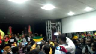 Woyanne Nile bond sale blocked by Ethiopians in Munich, Germany, Sat. Nov. 2, 2013