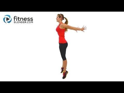 Fat Burning HIIT Cardio Workout - High Intensity Interval Training with Warm Up & Cool Down