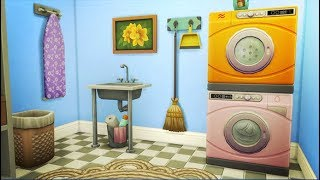 WHICKER WHIMS 💦 | THE SIMS 4 // LAUNDRY DAY STUFF — BUILD/BUY