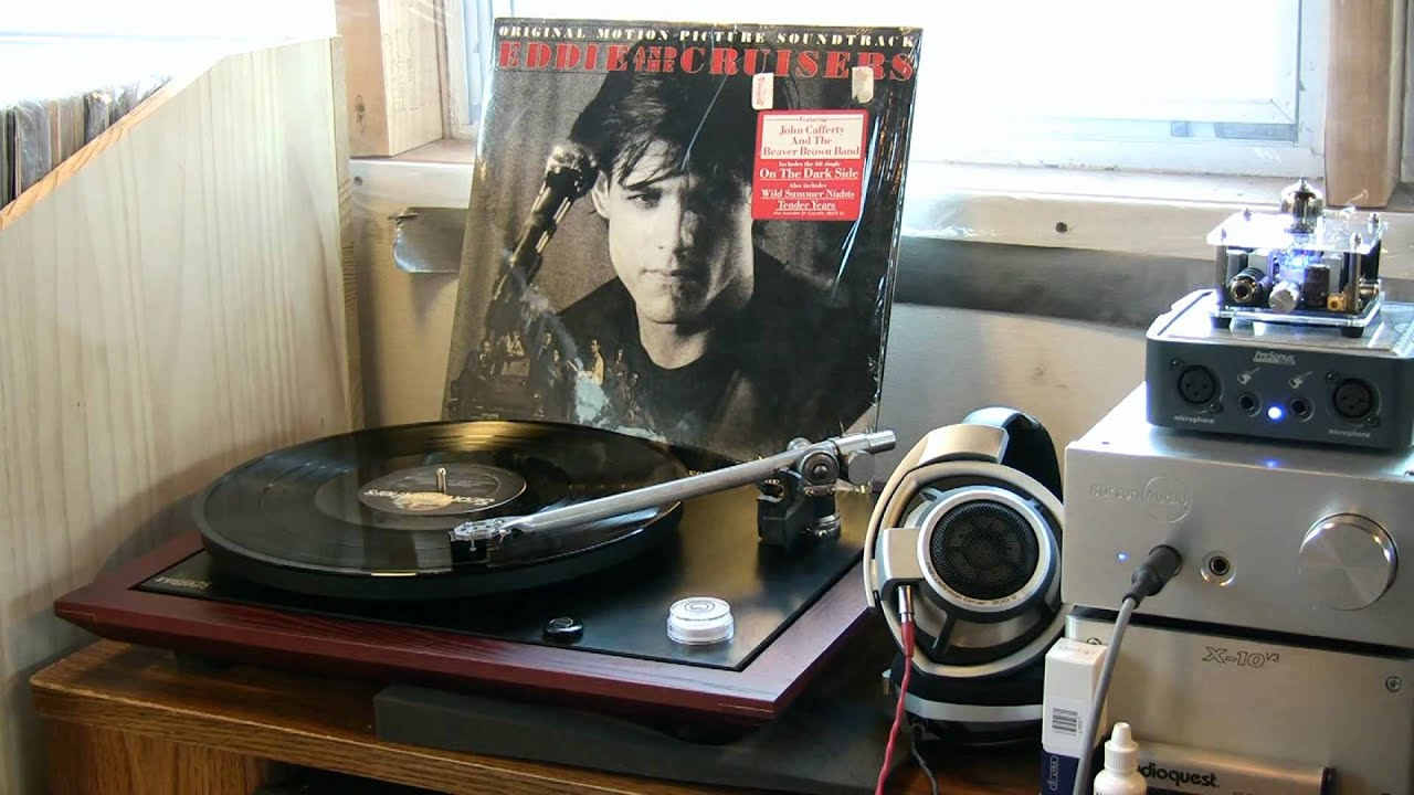 Rega p25 plays eddie and the cruisers quot on the dark side quot youtube