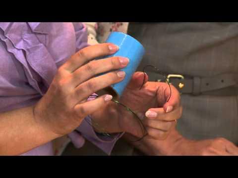 Vida Melhor - Artesanato: Porta-guardanapos de meia de seda (Renata Herculano)