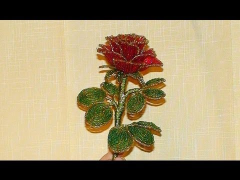 Сделать розу из бисера схема фото 236