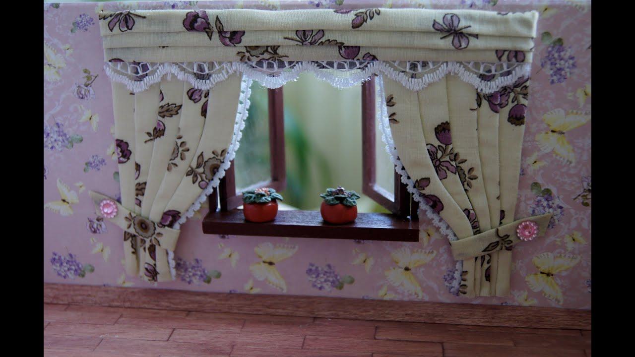 Как сделать шторы для кукольного домика своими руками