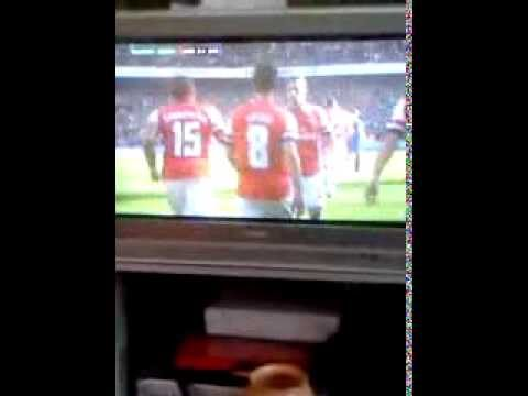 Mikel Arteta Score's For Arsenal FC vs Everton FC F.A. Cup;