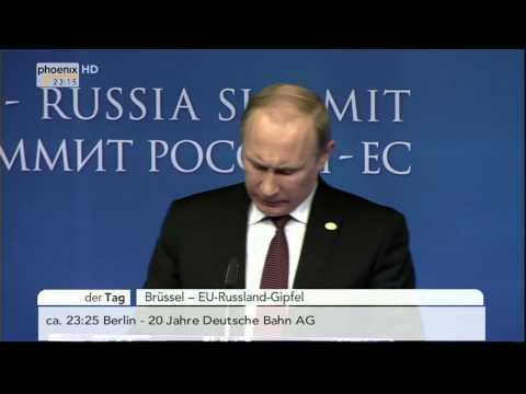 EU-Russland Gipfel - Rede von Barroso, Putin & Van Rompuy am 28.01.2014