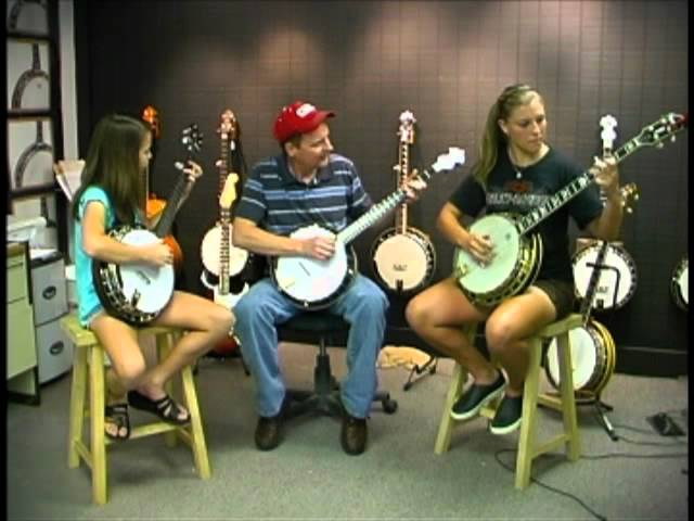 Rob Bishline and two star banjo students play cold frosty morn