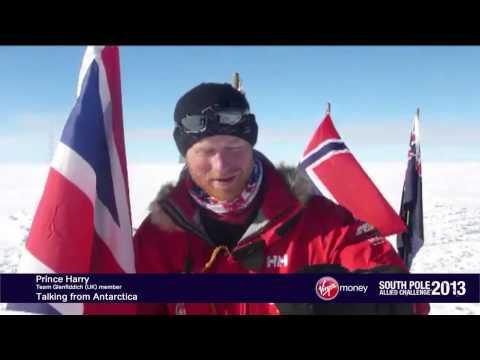 Prince Harry and the teams arrive at the South Pole.