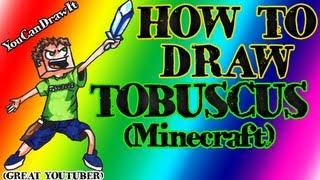 How To Draw Tobuscus Tobuscus Minecraft YouCanDrawIt ツ
