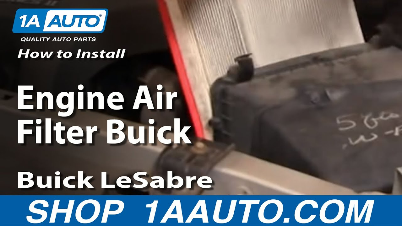 install replace engine air filter buick lesabre
