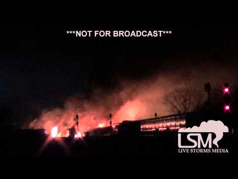 12-31-13 Casselton, North Dakota Train Fire/Derail Minus 20's! *Zach Hargrove HD*