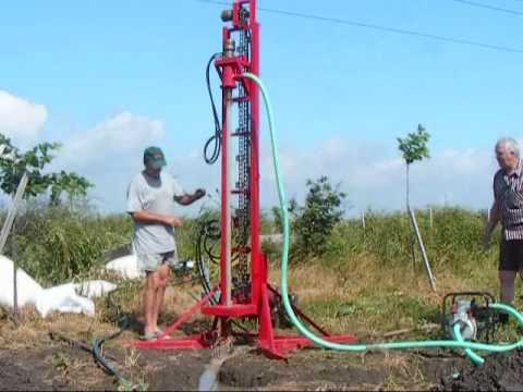 Water Well Drilling Rig Part2 Instalatie Forat Puturi De