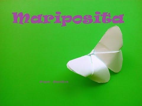 Origami - Papiroflexia. Mariposa, maripositas facil