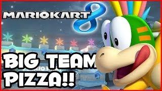 Mario Kart 8 Wii U - BIG TEAM PIZZA RISES!! (1080p MK8 Multiplayer Gameplay)