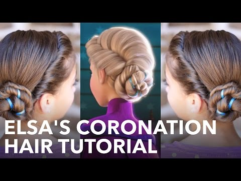 Frozen Inspired Elsa's Coronation Updo