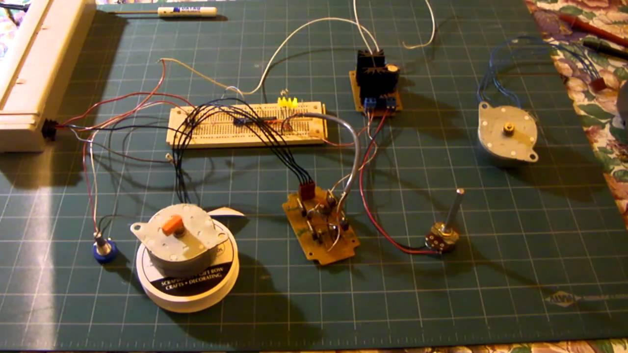 Unipolar Stepper Motor Controller Driver Test Circuit
