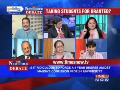 The Newshour Debate: Is a 4-year honors degree in Delhi University a good idea? (Full Debate)