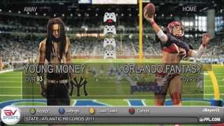 Madden NFL 14 Gameplay (Young Money Vs Taylor Gang