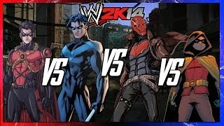 WWE 2K14 S2E5 Tim Drake VS Nightwing VS Red Hood VS