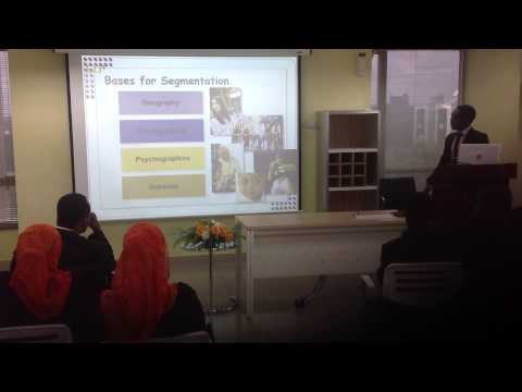 WAKILI FARUK BELLO MARKET SEGMENTATION PRESENTATION MALAYSIA  CLASS OF 2013