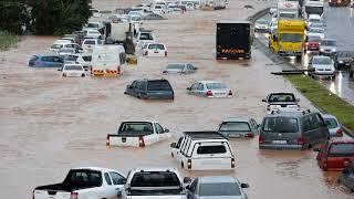 Floods in Durban, floodings Kwazulu-Natal, heavy rainfall in South Africa,
