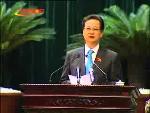 Thủ tướng Nguyễn Tấn Dũng phát biểu nhậm chức
