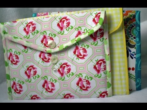 How to Make Fabric Folders- Envelope style (TEASER VIDEO)