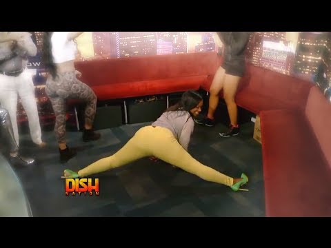 Rapper Cash Out Gets Kandi Burruss To Twerk In The Studio!