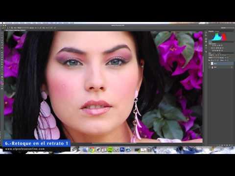 Retoque fotográfico de labios con Photoshop