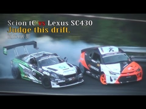 Scion tC vs Lexus SC430 drifting