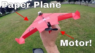 How Far Can a Paper Airplane Fly if You Add a Motor? How Do Planes Really Fly?