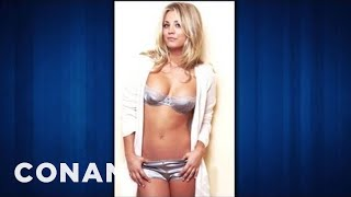 Kaley Cuoco Is A Scantily-Clad Ping-Pong Cheat CONAN On