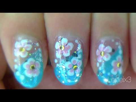 simple rhinestone holly nails  nail designs video