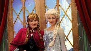 FROZEN's Princess Anna And Queen Elsa Meet And Greet Epcot