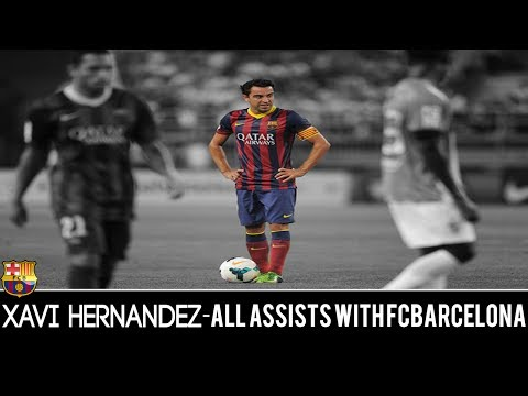 Xavi Hernández ● ALL Assists with FCBarcelona ● 2000-2013