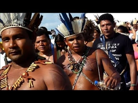 Brazil police fired tear gas at Indigenous protesters